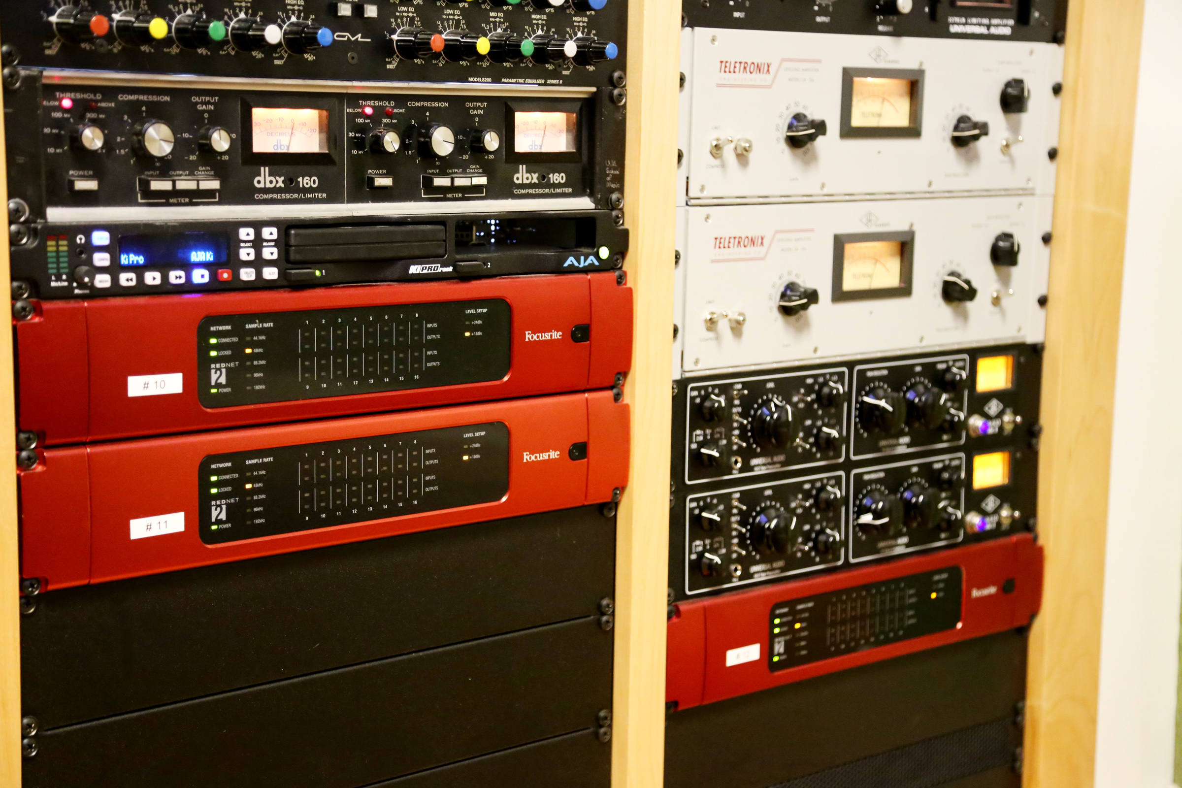 A Gear Rack In The Studio Control Room At Music Engineering Technology Program University Of Miami S Frost School Featuring Rednet